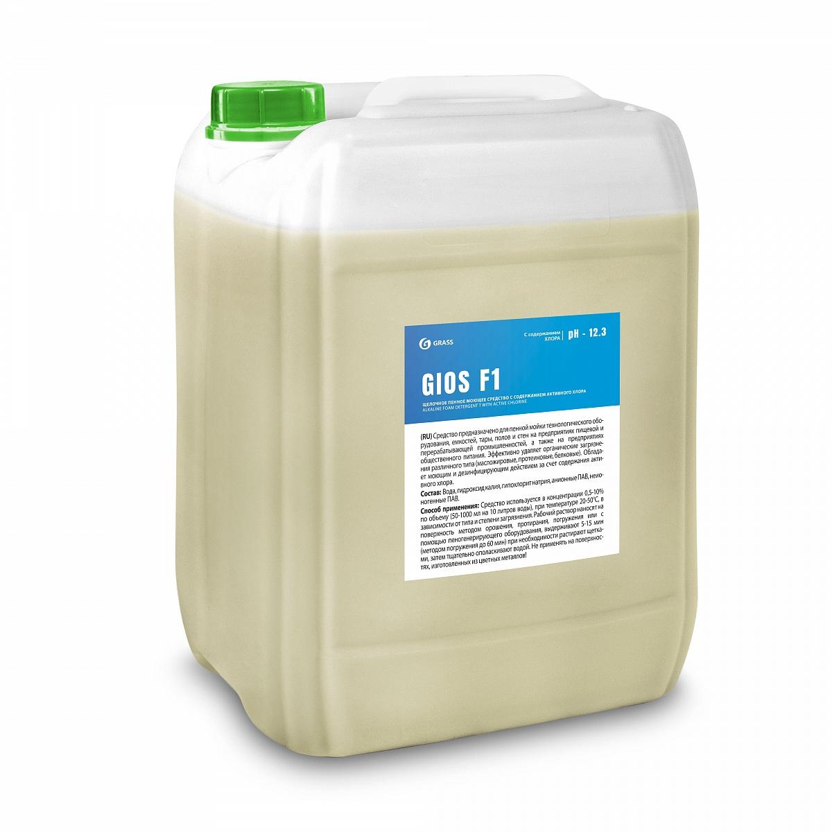 Щелочное пенное моющее средство на основе активного хлора GIOS F 1 (канистра 19 л)